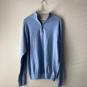 Peter Millar Quarter Zip Wool and Cashmere Size M